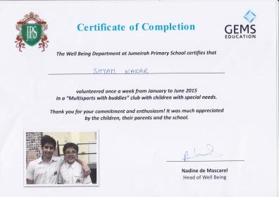 Volunteering Certificate